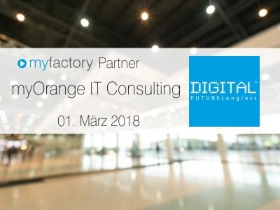 myfactory Partner myOrange auf dem Digital Future Congress in Frankfurt